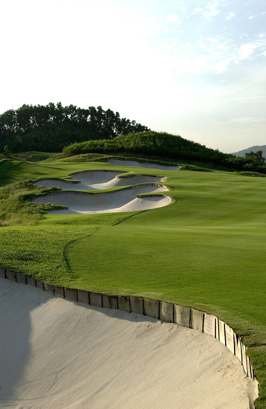 Norman Course Mission Hills Hole 5 Bunkering